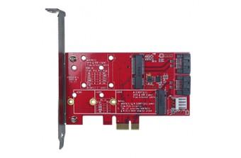 """Интерфейсные платы 2.5"""" SSD SATA to mSATA & M.2 card (ESXS-2301-C1)"""