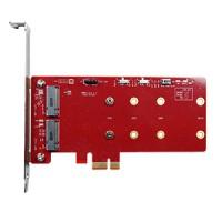 PCIe to dual M.2 RAID module (ESPS-32R1-C1)