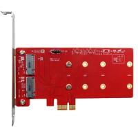 PCIe to dual M.2 module (ESPS-3201-C1)